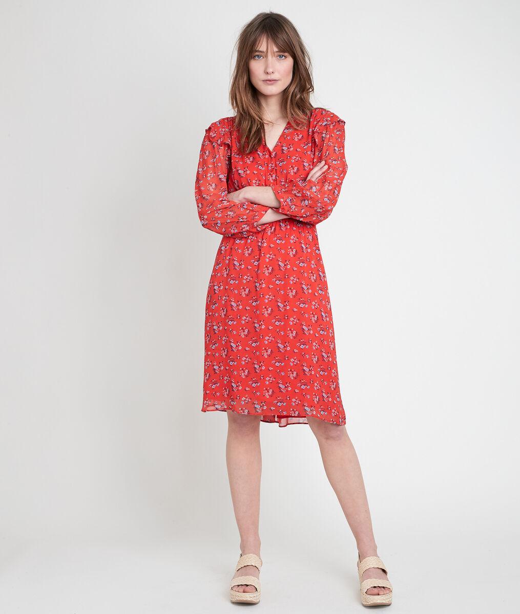 LIVIE guava-coloured printed dress PhotoZ | 1-2-3