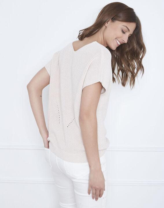 Annecy powder pink openwork knit jumper (4) - Maison 123
