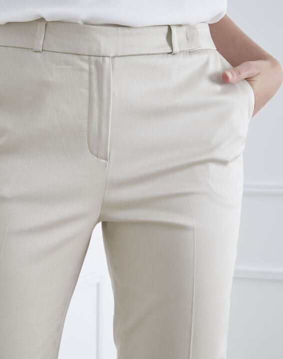Rubis beige cigarette-cut trousers (3) - Maison 123