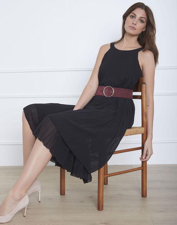 Nice black long pleated dress (2) - Maison 123