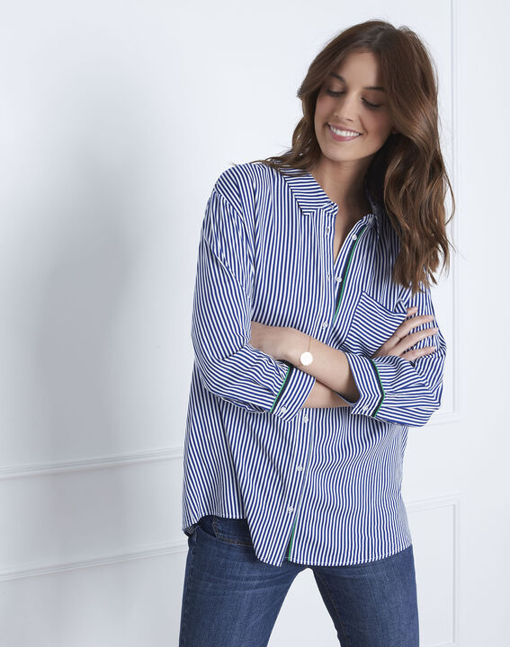 Darwin pin striped blue blouse (2) - Maison 123