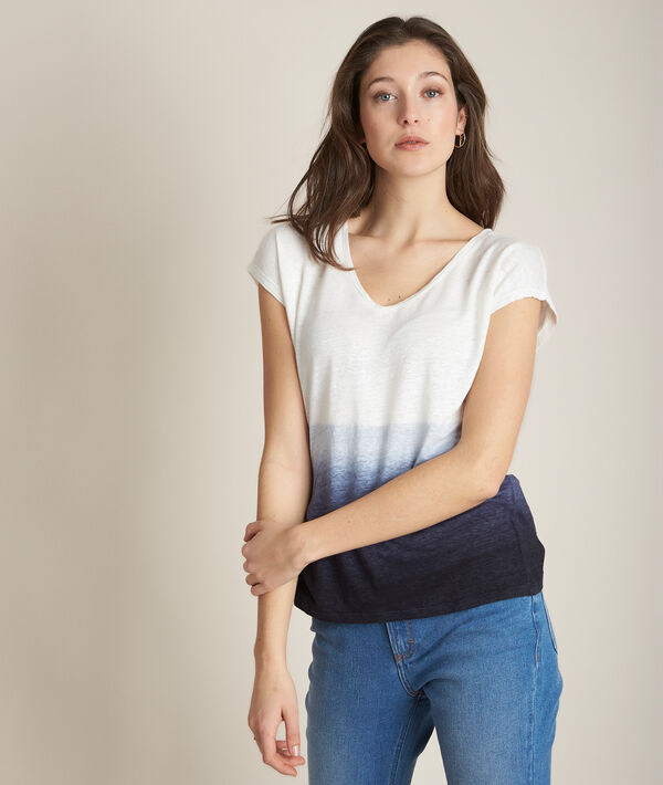 Ruban tie dye linen T-shirt PhotoZ | 1-2-3