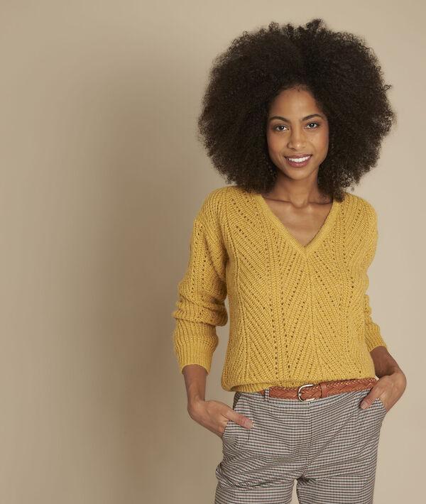 Fougasse amber openwork pullover PhotoZ | 1-2-3