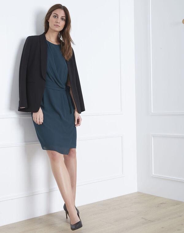 0234bb8f15133 Harpe dark green draped dress. € 136.00. Vatika green floral print blouse  ...
