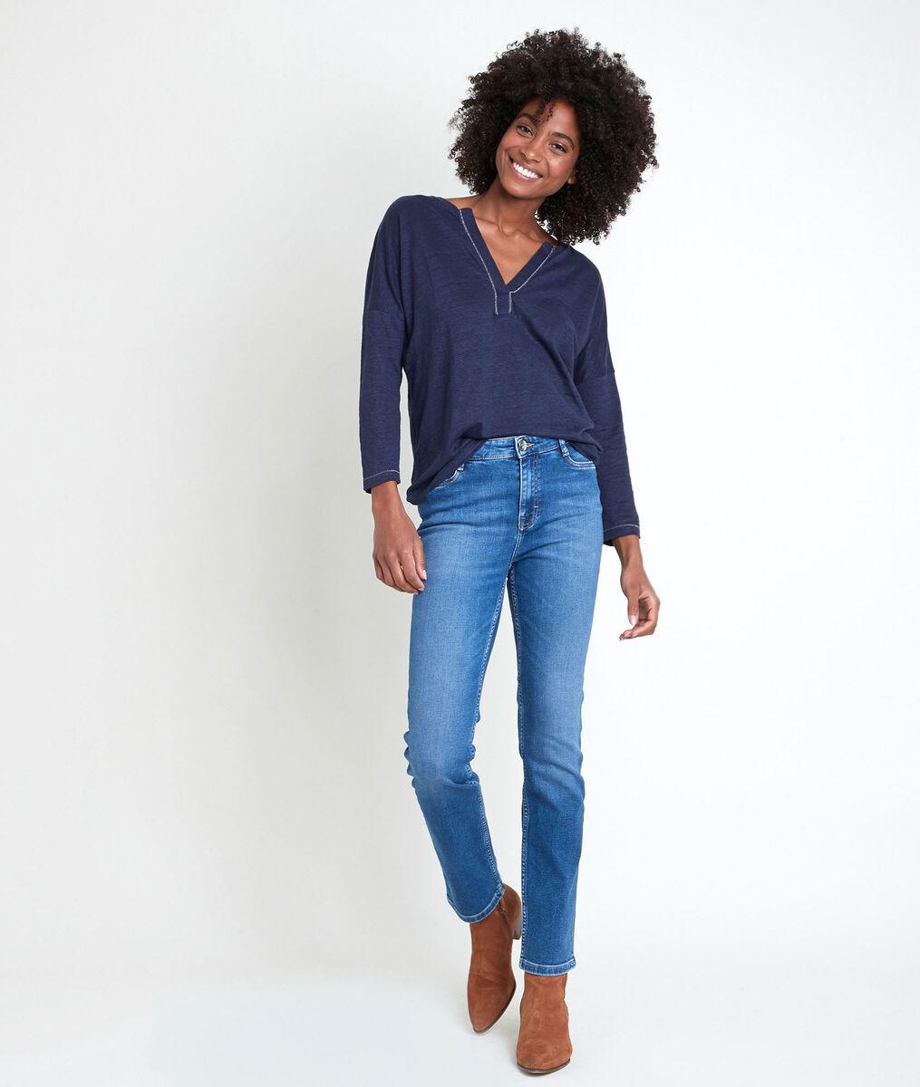 ILEA blue linen top PhotoZ | 1-2-3