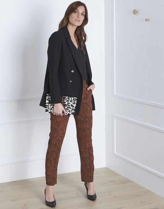 Gerende mahogany snakeskin print trousers PhotoZ | 1-2-3