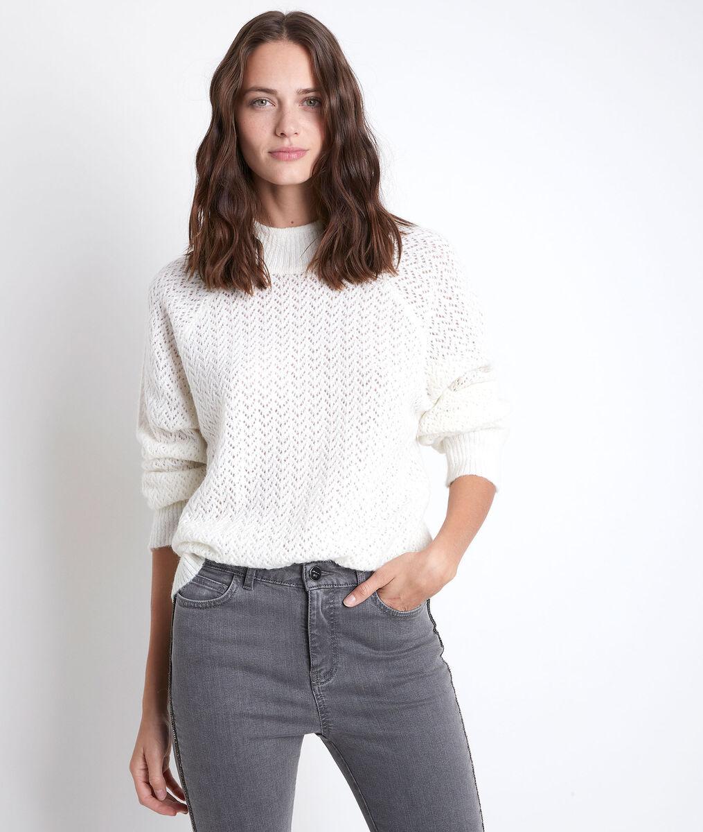 Rima ecru openwork jumper PhotoZ   1-2-3