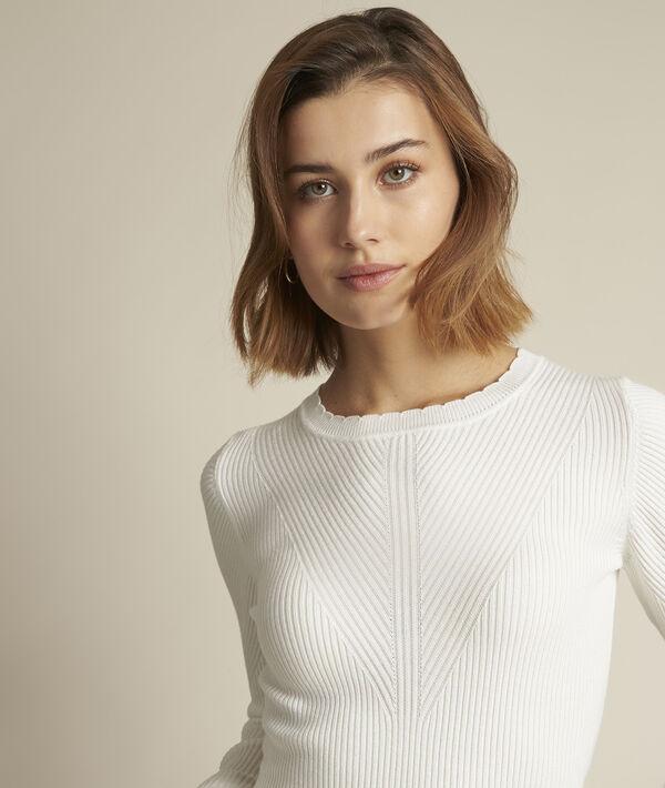 Délice ecru-coloured ribbed jumper PhotoZ | 1-2-3