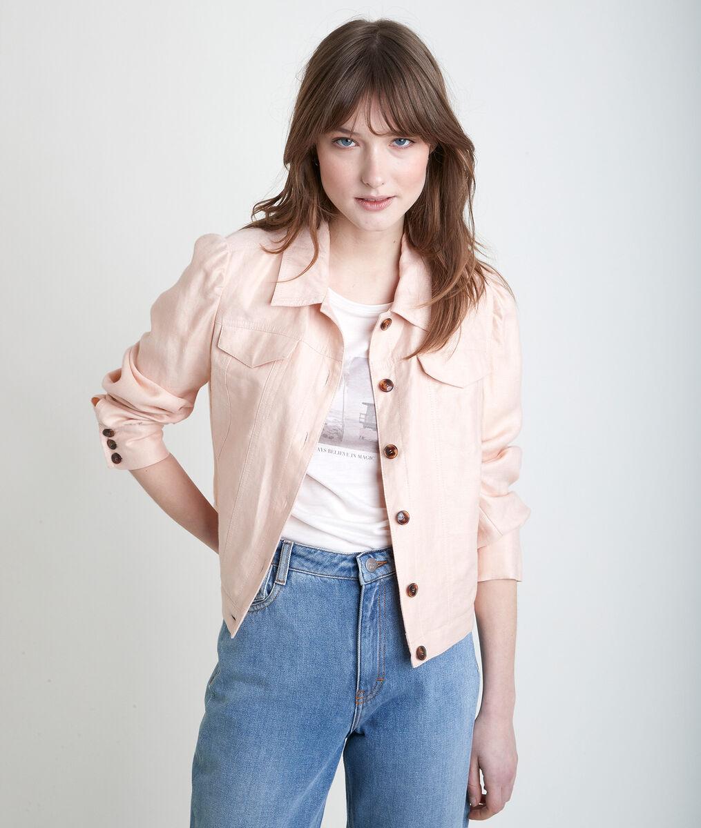 PASSION peach linen jacket PhotoZ   1-2-3