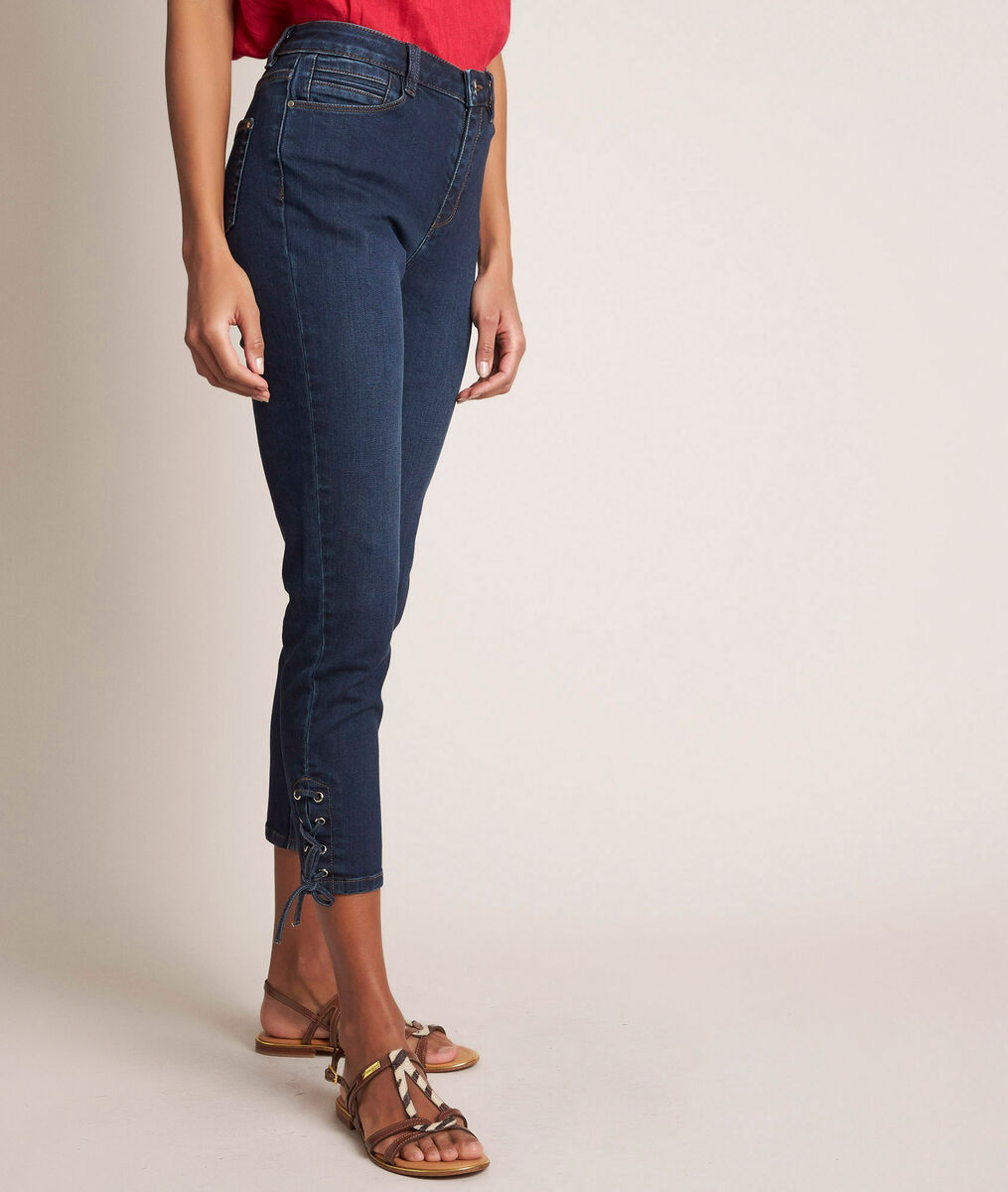 Agatha, the iconic raw slim laced jeans PhotoZ | 1-2-3
