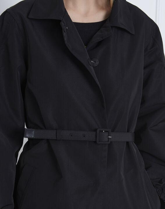 Daniela black belted trench coat (4) - Maison 123