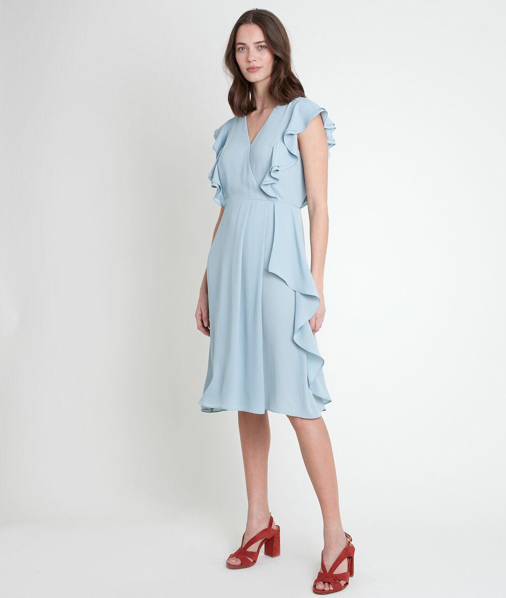 MELANIE celadon ruffle dress PhotoZ | 1-2-3