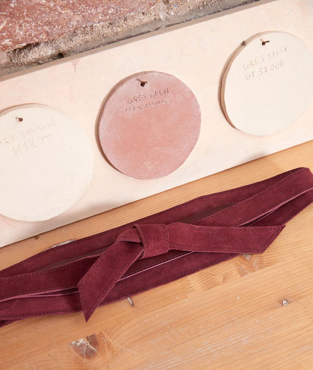 Eddy wide garnet-coloured leather belt PhotoZ | 1-2-3