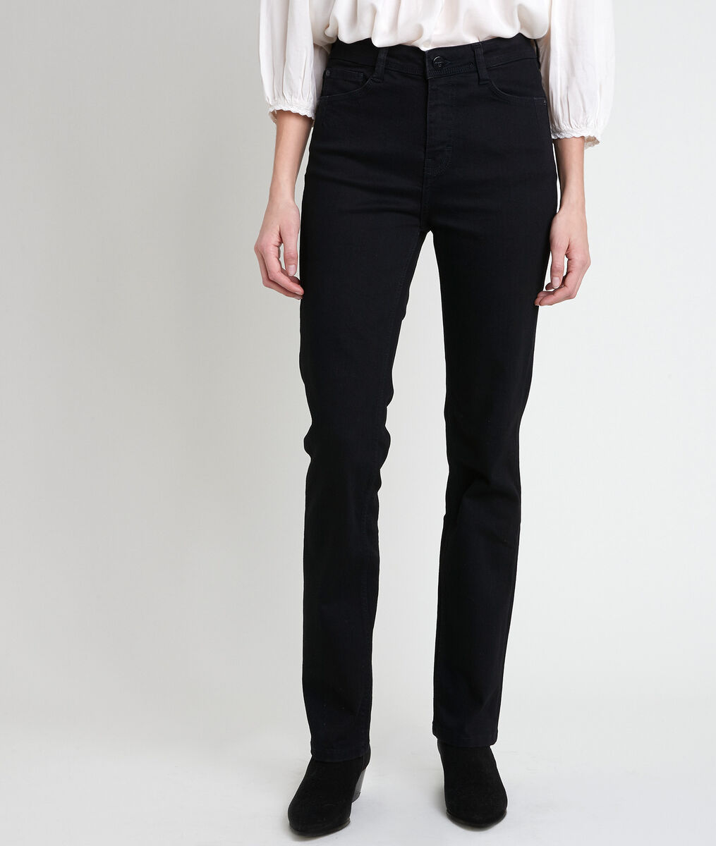 The Original 123: the Sonia black straight-leg jeans  PhotoZ | 1-2-3