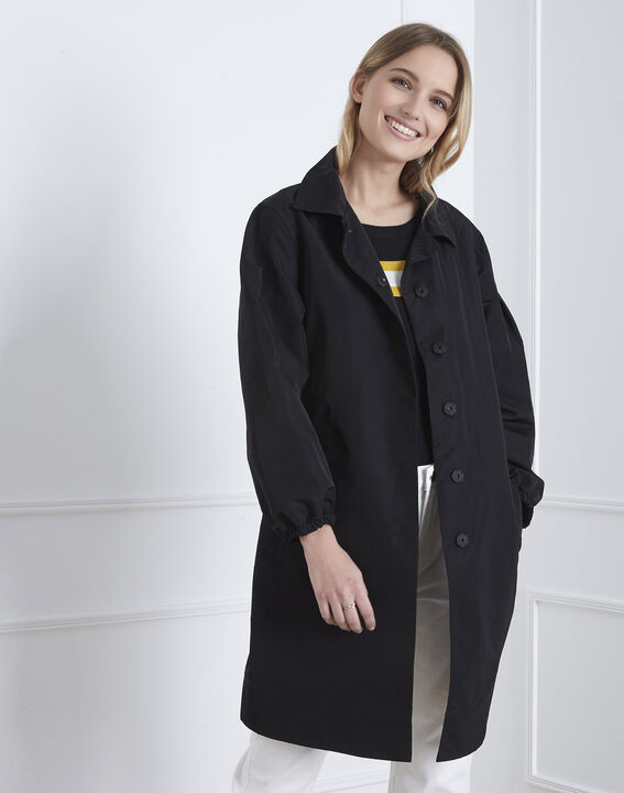 Daniela black belted trench coat (2) - Maison 123