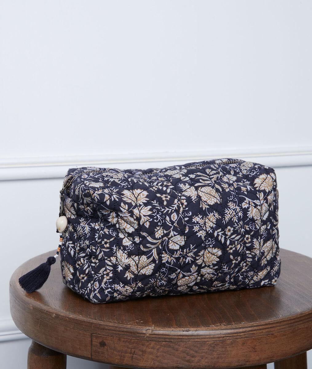 Diane printed navy blue clutch bag PhotoZ | 1-2-3