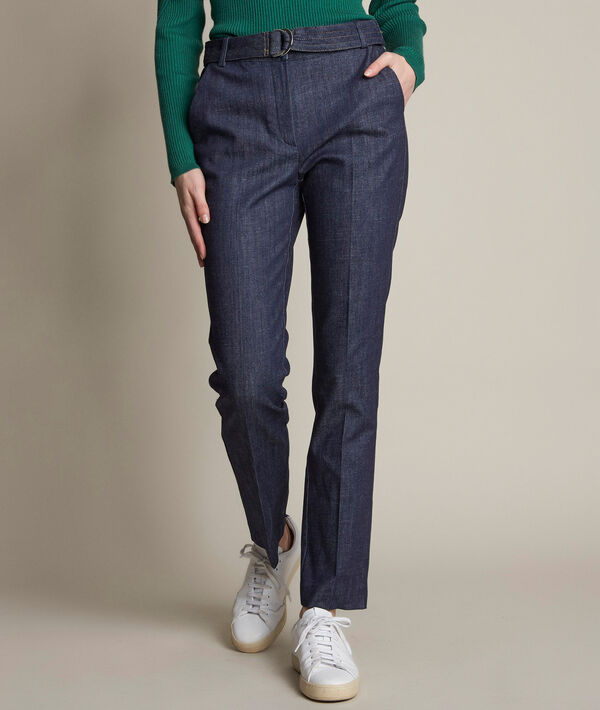 Amandine belted denim trousers PhotoZ | 1-2-3